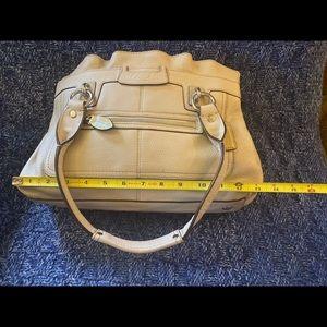 Cream Coach Handbag